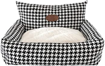 Dog Bed Washable Lattice Square Pet House Breathable Soft Pet Bed Winter Warm Pet Home for Dogs and Cats