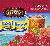 Celestial Seasonings Raspberry Cool Brew Iced Black Tea, 40 Tea Bags