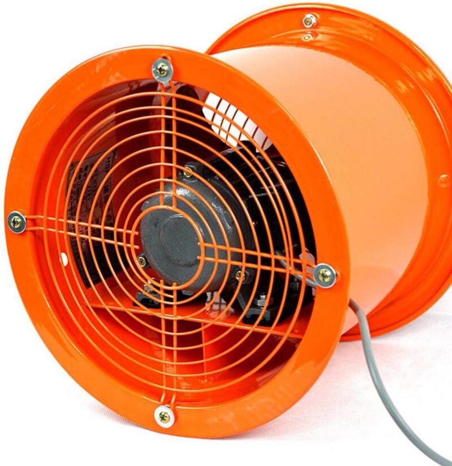 XGHW Ventilador de Alta Potencia portátil de ventilación Extractor de Polvo Ventilador soplador axial Ventilador Industrial/inodoros/baños/cobertizos/talleres (10 Pulgadas)