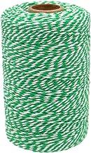200 m katoenen koord, pakket- / decoratiekoord voor kunsten en vaardigheden Grün Weiß