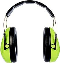 3M H510A-470-GB Cuffie di Protezione, Temporale, 27 dB, Hi-Viz, Verde