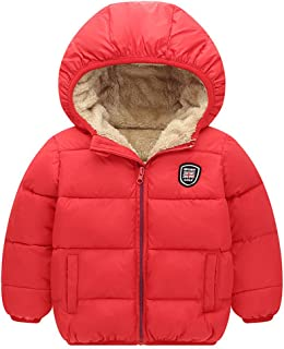 Baywell Winter Warm Kids Coats, Little Girls Boys Outwear Hoodie Jacket