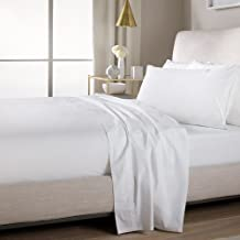 Sweet Home Collection Quality Stitched 100% Brushed Microfiber Solid Color Flat Sheet, Twin, White