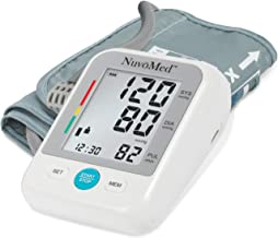 Blood Pressure Monitor Accurate Pulse Rate Monitoring Automatic Electronic Monitors Bp Tracking Machine Arrhythmia Detection Best Health Kit LCD Screen (Premium Arm Cuff)