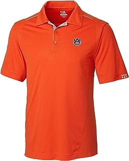 NCAA Men's CB Dry Tec Foss Hybrid Polo,Auburn Tigers,College Orange,3X-Large