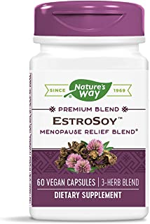 Nature's Way EstroSoy Menopause Relief Blend Black Cohosh Extract Fermented Soy, 60 Vcaps