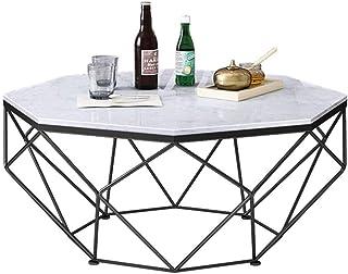 RSBCSHI Table Basse marbre octagère, Plateau de Cuisson métallique Professionnel, propice au Salon Petit Bureau d'appartem...
