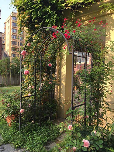 Outdoor Garden Arbor Metal Garden Arches, Arbors Arbour Trellis Steel Archway, 7'4'' High X 4'7'' Wide, for Climbing Plants Vines Roses Wedding Arch Stand