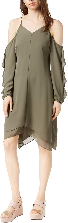 Bar Iii Womens ColdShoulder Asymmetrical Dress