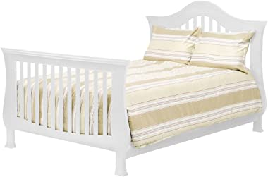 Full Size Conversion Kit Bed Rails for Million Dollar Baby Ashbury, Durham, Etienne, Foothill, Louis & Wembley Cribs (White)