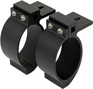 2X Universell passende OVALE schwarz pulverbeschichtete Rohrschelle ø89mm für Pickup Frontbügel mit ovaler Strebe~
