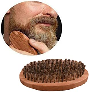 Brush for Beard Hair Men Round Wood Boar Bristle Mustache Shaving Cleaning Comb Hot Natural Mens