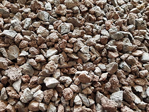 Der Naturstein Garten 25 kg Lava/Basalt-Mix 8-16 mm - grau/rot - Lieferung KOSTENLOS