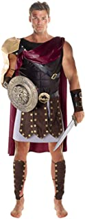 Morph Mens Brown Roman Gladiator Fancy Dress Soldier Adults Costume - Large