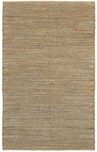 "LR Resources Natural Fiber LR03336-GRY5079 Gray Rectangle 5 X 7 ft 9 inch Plush Indoor Area Rug, 5' x 7'9"", -  NATUR03336GRY5079"