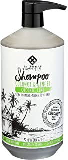 Alaffia - Everyday Coconut Shampoo, Dry to Extra Dry Hair, Gentle Support to Cleanse, Hydrate, and Stimulate Hair with African Ginger, Coconut Oil, and Shea Butter, Fair Trade, Coconut Lime, 32 Ounces