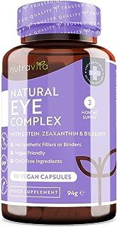 Integratore occhi - luteina, zeaxantina, estratto di mirtillo, vitamine A, B12 e zinco - Il mantenimento della normale cap...