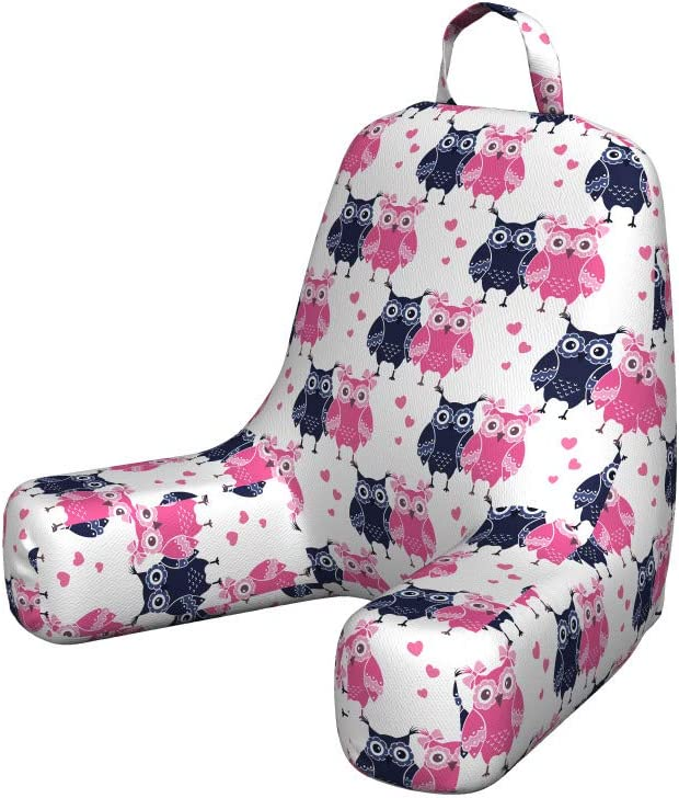 Ambesonne Owl Reading Cushion Super sale period limited with Ranking TOP4 Back Anima Pocket Valentines