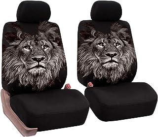 JKHOIUH Tela Sandwich, Asiento delantero 2 Cojín de asiento de coche con estampado de león Cojín Todo incluido Four Seasons Universal General Motors Funda de asiento de coche Funda de asiento de GM un