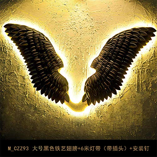 GYBYB European Iron Angel Wing LED 6M Lampe Gürtel Wandleuchten Wanddekoration Gang Coffee Shop Bar Wandleuchten Nacht Art Deco Fixtures @ big_black