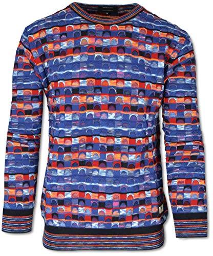 Carlo Colucci All-Over Jacquard Pullover Rot-Orange