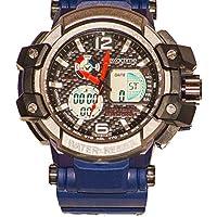 EXACTIME 1420 Azul - Reloj Deportivo Resistente al Agua Unisex - Análogo/Digital