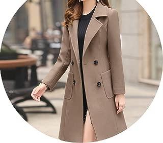 Dreamedge Winter Woman Jacket Coat Long Thick Warm Woolen Coat Jacket Women Overcoat Cashmere Coats