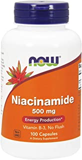 Now Foods Niacinamide, 500mg, Capsules, 100ct