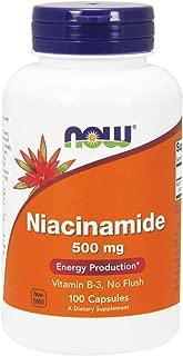 NOW Niacinamide 500mg,100 Capsules