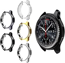 5 Pack Case for Samsung Gear S3 Frontier SM-R760, MIMEI Soft TPU Plated Protective Bumper Shell Protector for S3 Classic SM-R770N & Galaxy 46mm SM-R800 Smartwatch Accessories (AS Show, 8 X 8 X 4 cm)