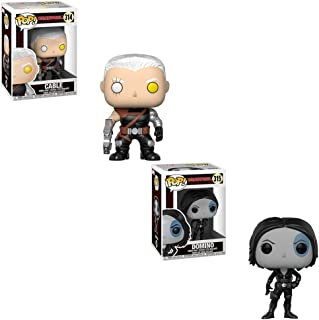 Funko POP! Marvel Comic Deadpool: Cable and Domino Toy Action Figure - 2 POP BUNDLE