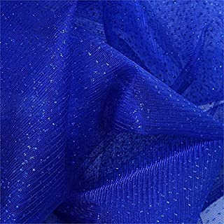 BalsaCircle 54-Inch x 15 Yards Royal Blue Sparkle Glittered Net Tulle Fabric by The Bolt - Sewing Craft Wedding Favors Supplies