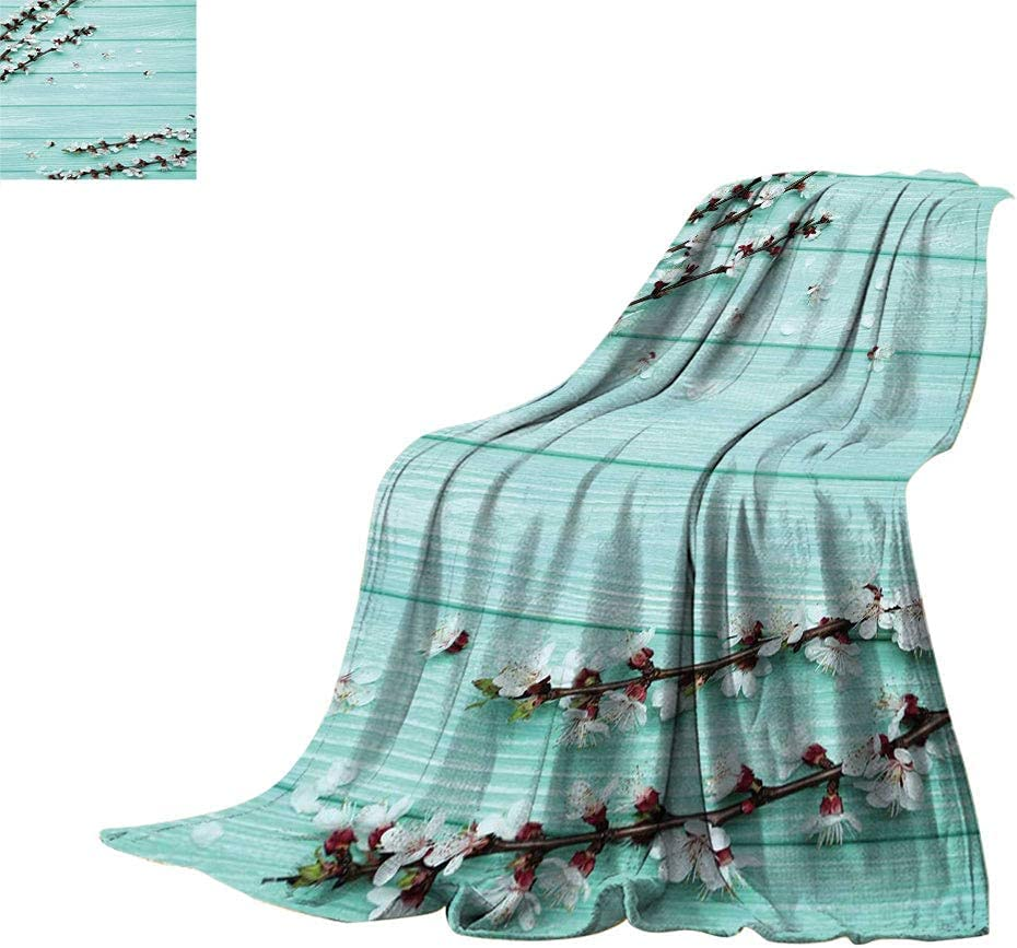 Cherry Flower Twin Popular product Size Fleece Ranking TOP15 Pe Spring Blossom Blanket
