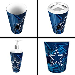 The Northwest Company Dallas Cowboys NFL 4 Piece Bathroom Decorative Set (Scatter Series)