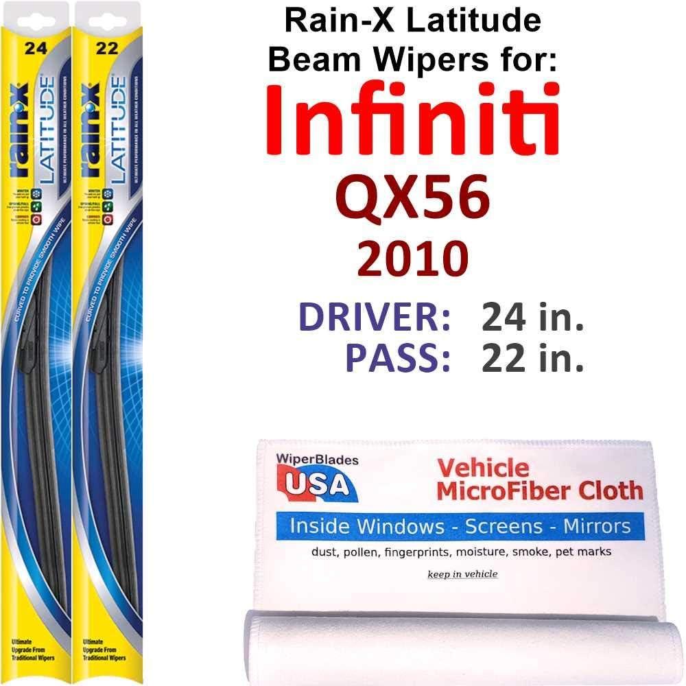 Rain-X Latitude Beam Wiper Blades for QX56 Rai Infiniti Set Oakland Mall Weekly update 2010