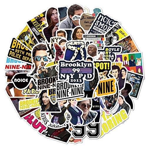 TUHAO Brooklyn Nine-Nine Stickers for DIY Stationery Decal Pegatina Motorcycle Skateboard Laptop Guitar Helmet Sticker /50Pcs