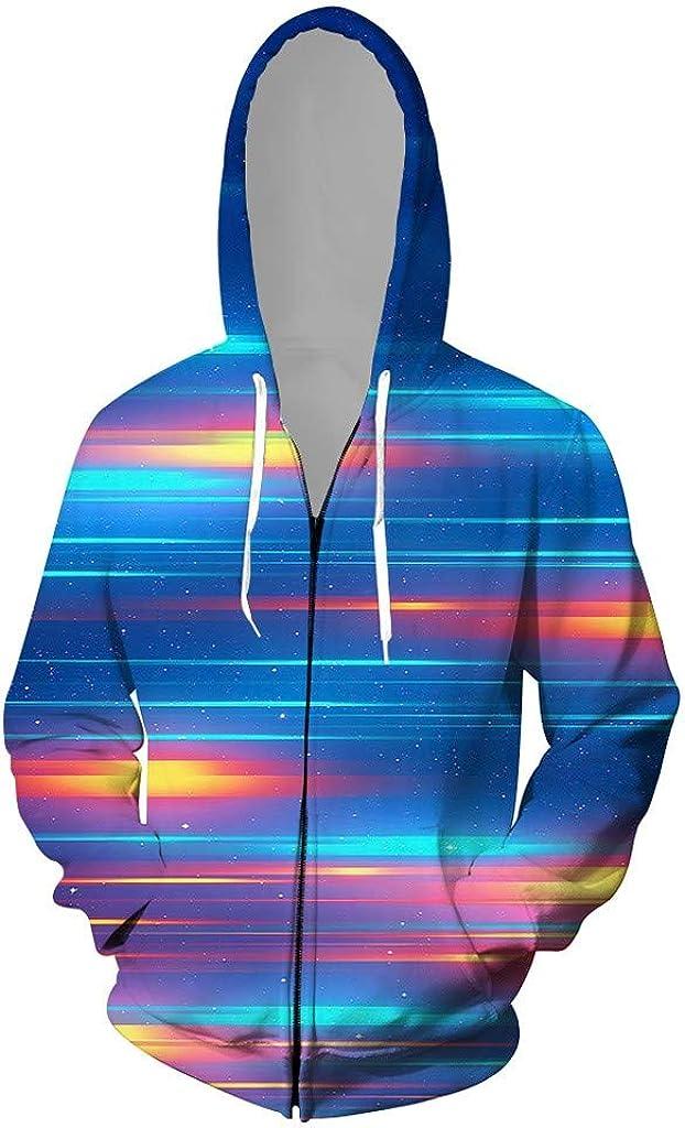 YKARITIANNA Men's 3D Jacket Long Superlatite Hoodi Hooded 67% OFF of fixed price Sleeve Casual Coat