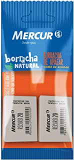 Borracha, Mercur B01010301009, Branco, Pacote de 2