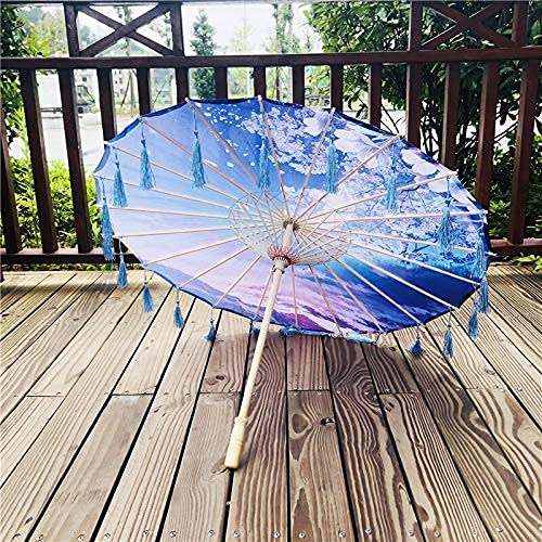 Seda china artesanía paraguas hanfu flor paraguas seda paraguas impermeable practicar traje hembra tassel paraguas antiguo estilo foto propulsión paraguas bambú artesan paraguas decorado paraguas Seup