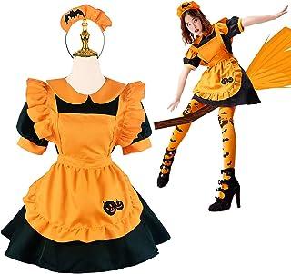 メイド服 ハロウィン コスプレ衣装 ワンピース コスチューム 魔女 仮装 レディース