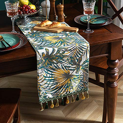 Retro Color Geometric Printing Cotton And Linen Table Runner, Kitchen Table Decoration, Living Room Coffee Table Tv Cabinet Dust Cover 30x100cm