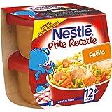Nestlé Bébé P'tite Recette Paëlla  Plat complet dès 12 mois 2 x 200g - Lot de 8