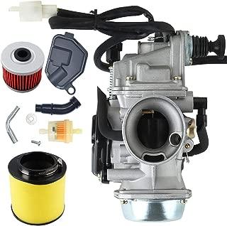 New TRX350 Carburetor+ Oil Filterw/Air Filter for Honda Rancher 350 TRX350 350ES 350FE 350FMTE 350TM 2000-2006 Carb