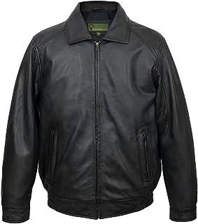 HIDEPARK Will: Men's Black Leather Blouson Jacket