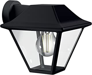 Philips myGarden Aplique - Lámpara de pared de 60 W, aluminio, IP44, para jardín y patio, casqullio E27, color negro
