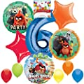 Angry Birds 2 Party Supplies Balloon Decoration Bundle for 6th Birthday