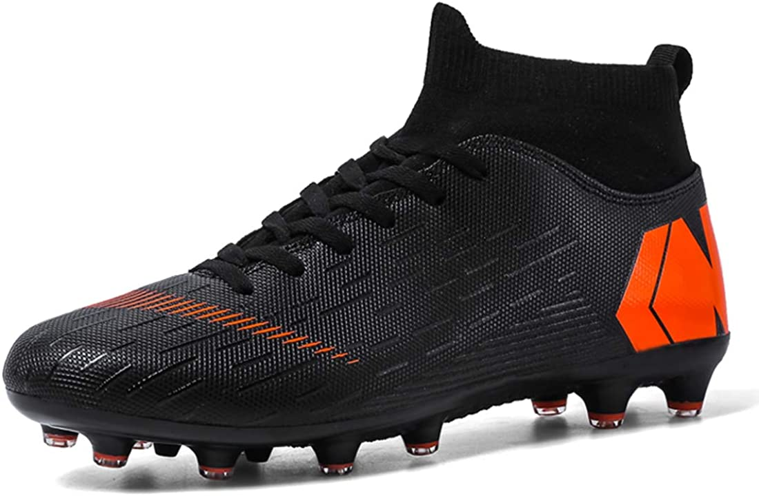 LIAOCX Men/'s Football Boots Cleats High-top Sock Ankle Care Performance Soccer Shoes Boys Athletic Sneaker Shoes for Outdoor//Indoor//Competition//Training