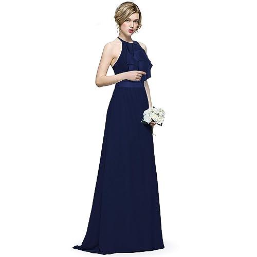 Ever Pretty Women s Elegant Floor Length A Line Chiffon Long Bridesmaids  Dress 07201 d8b024a4f00f