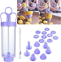 Cookie Press Maker Kit, Cookie Press Baking Tools, Accessories Cake Biscuits Mold Cookie Press Making Gun, for DIY Biscuit...