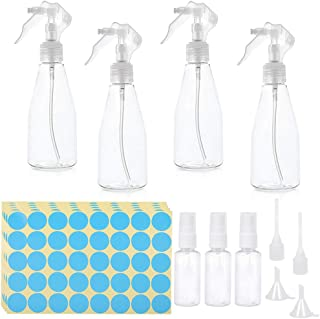 UCEC 16pcs Portable Refillable Plastic spray bottle Set, Liquid dispensing bottle,Travel Bottle Empty Transparent Containers Bottles, for Liquids Perfume Travel Home Garden